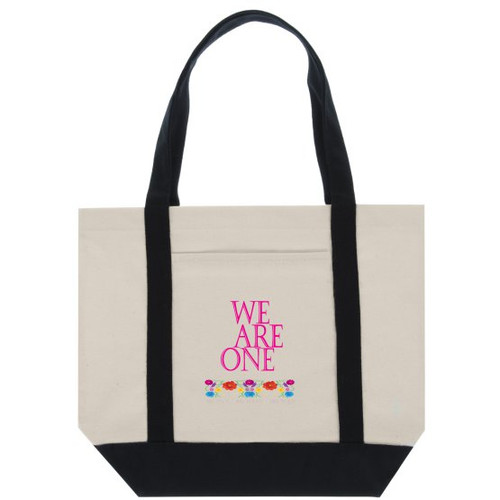 "Great for School or grab your grocery list and hit the market with the Classic Cotton Tote Bag Two-Tone Deluxe. This Tote is great for anything from running errands to hitting the beach.   - 11oz., 100% canvas cotton - 14.96"" H x 18.5"" W x 4.72"" L dimensions - Handle Height is 11.02"""