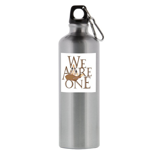 Stay hydrated as you work out with the Santa Fe 26-Ounce Aluminum Bottle. It's easy to hold onto while you're walking or jogging. -  BPA-free aluminum material -  Screw-on lid -  Includes a matching carabiner.