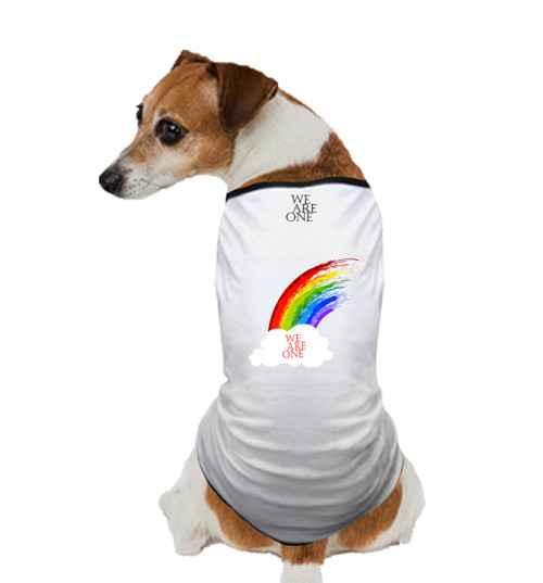 GAY PRIDE DOG T SHIRT