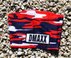 Navy Blue and Red Classic Camo Head Sleeve