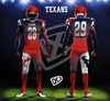 Twill Numbers and Embroidery Football Jerseys and Pants or Liquid Numbers