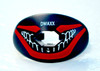 Joker Lip Shield Mouth Guard Pacifier - black with red and white print