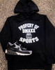 Property of Dmaxx Sports Est 2009 - Silver Liquid Print - Hoodie - Youth Size
