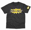 Pow BALL. OUT tee - Black and Yellow print