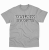 DMAXX SPORTS - HEATHER GRAY WITH BLACK AND WHITE. PRINT