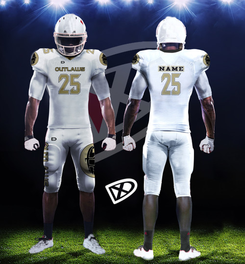 Fully Custom Game Football Uniforms Design Examples Dmaxxsports