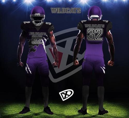 black and purple football jersey
