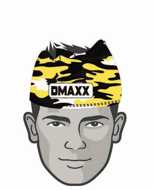 Black and Yellow Classic Camo  Head Sleeve