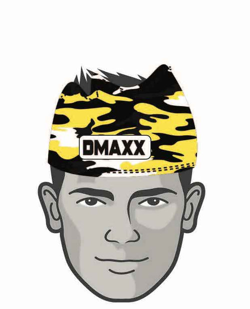 Black and Yellow Classic Camo  Head Sleeve