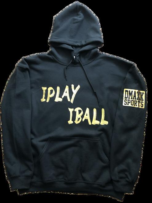 IPLAY IBALL - BLACK YOUTH HOODIE