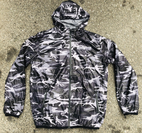 Camo Windbreaker - Gray and Black - Adult Sizes