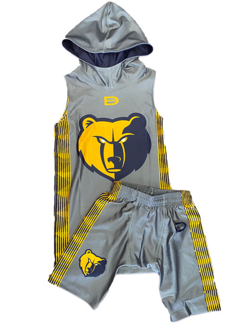 Hooded Sleeveless Compresson shirt with and shorts set