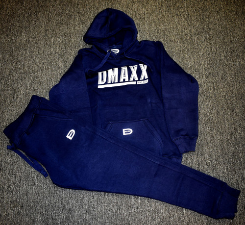 Navy Blue Dmaxx Hooded Sweatshirt and Pants