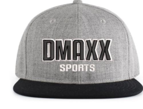 Dmaxx Sports 3d SnapBack - Silver and Black