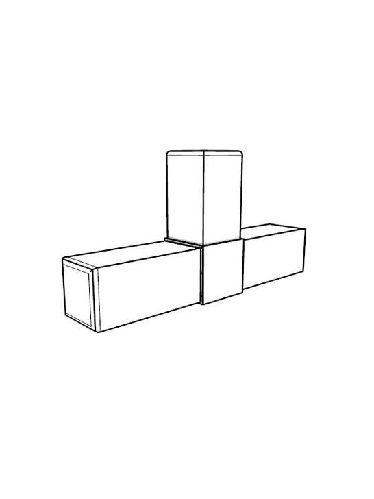 Frame Joint - 3-Way Flat Tee x4