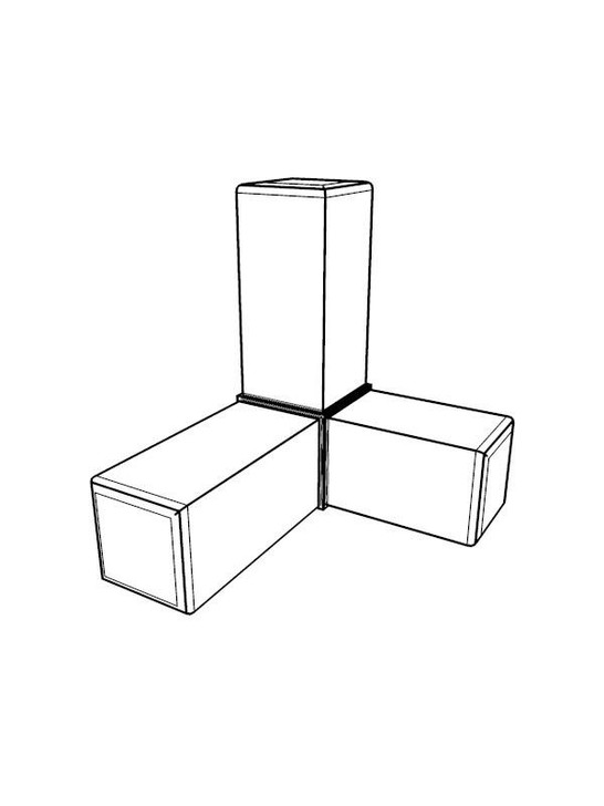 Frame Joint - 3-Way Corner x4