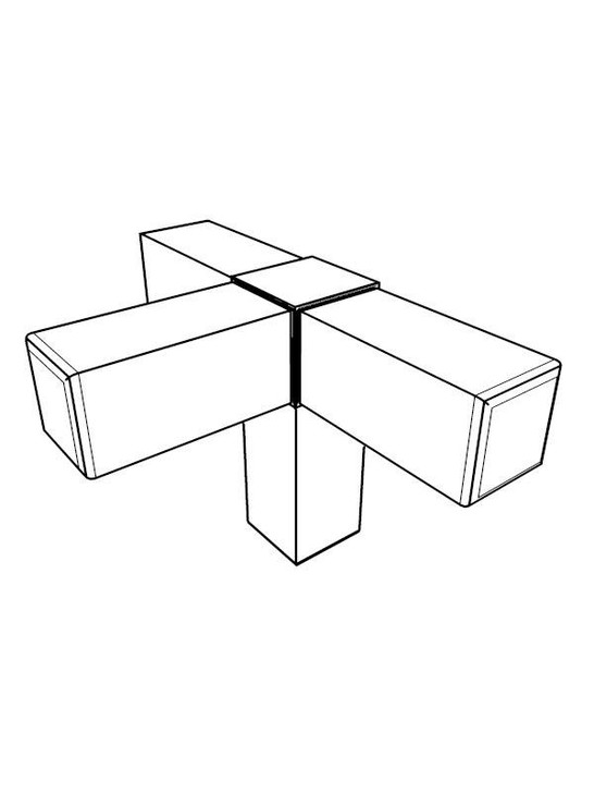 Frame Joint - 4-Way Edge x4