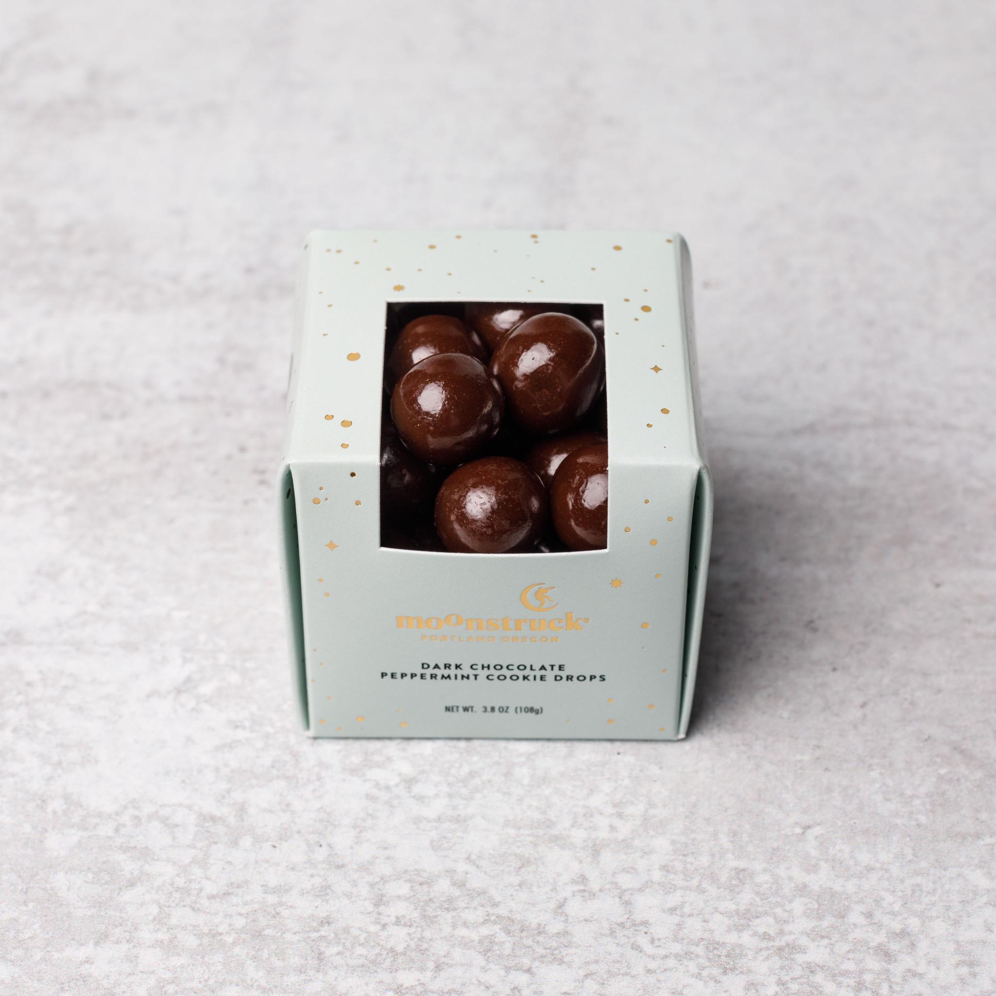 Dark Chocolate Peppermint Cookie Drops