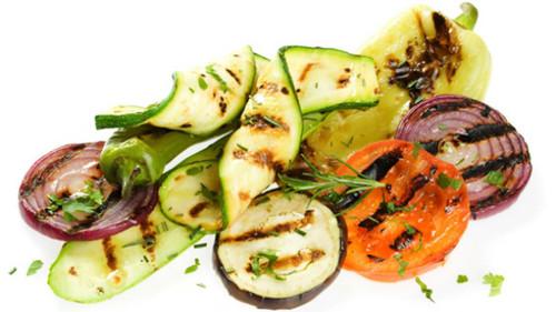   Broodje bio Hummus met gegrilde groenten  