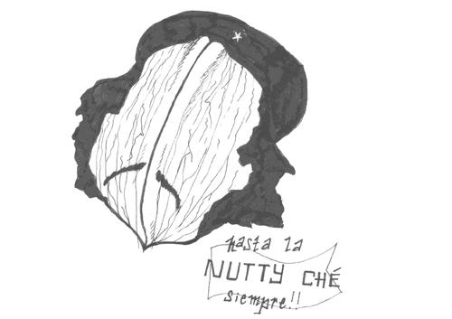 | Nutty Ché : broodje belegd met knolseldersalade, belegen kaas, notenmengeling en rucola. |