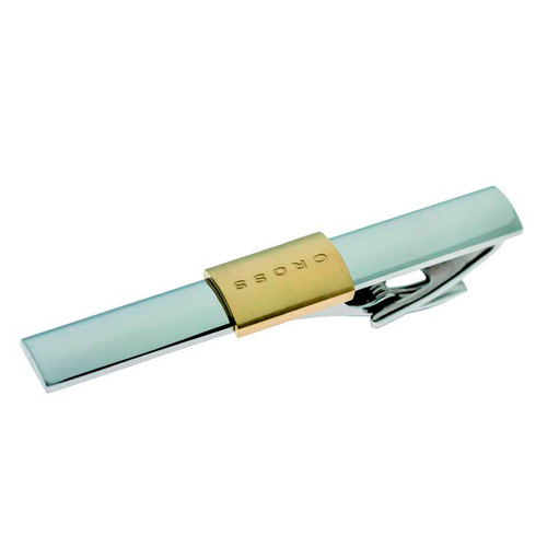 Newport Stainless Steel with Elements + Gold Tie Clip