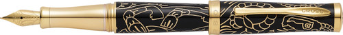 Year of the Goat Black Laquer/23CT Gold Fountain Pen [Medium Nib]