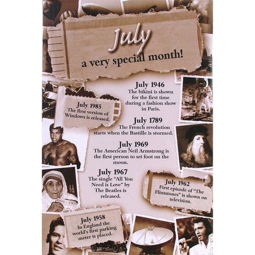 Chronicle Card - July Month