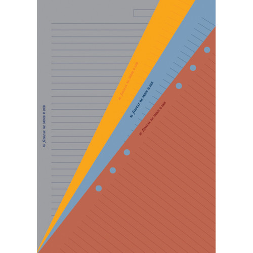Ruled Notepaper Contemporary Coloured (A5)