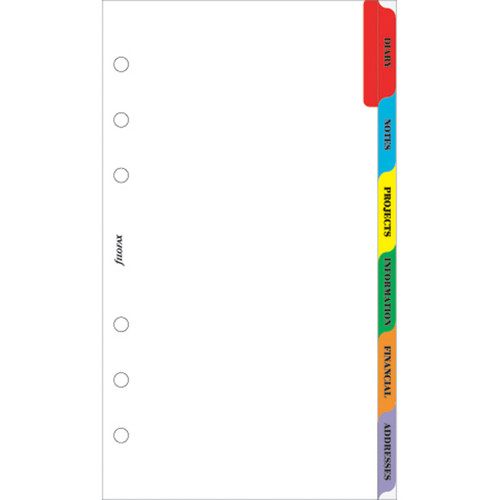 Subject Index Multi-Coloured [6 Tabs](Personal)