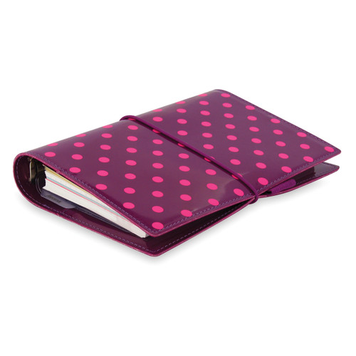 Domino Patent Aubergine with Spots (Personal)