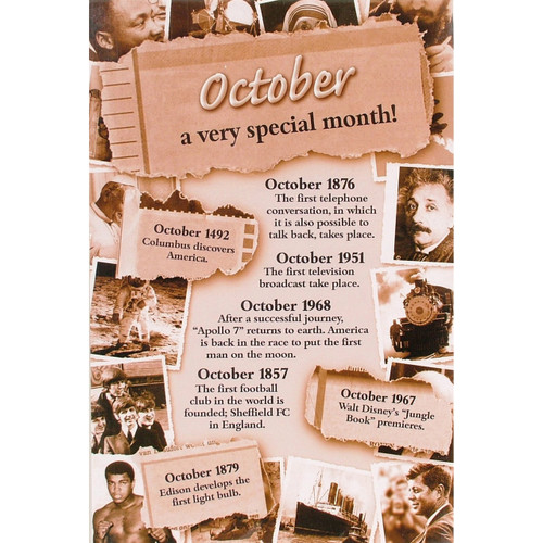 Chronicle Card - October Month