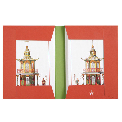 Architectural Watercolors Note Card Folio Pagodas
