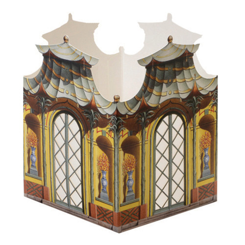 Architectural Watercolors Paper Lantern #3 The Tea House