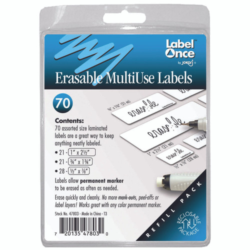 Erasable Multi-Use Labels Refill Pack