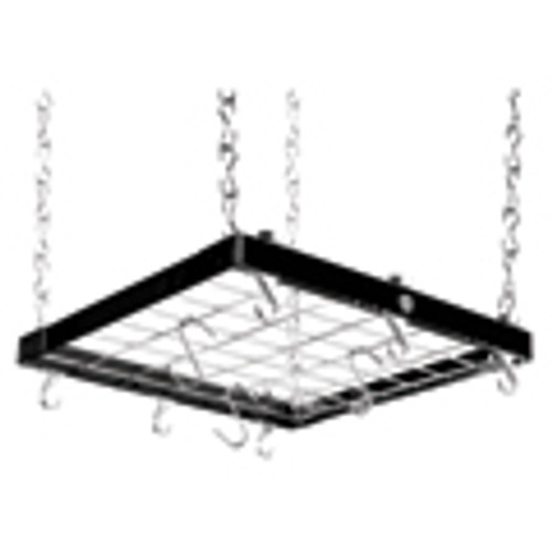 Black & Chrome Square Metal Ceiling Rack