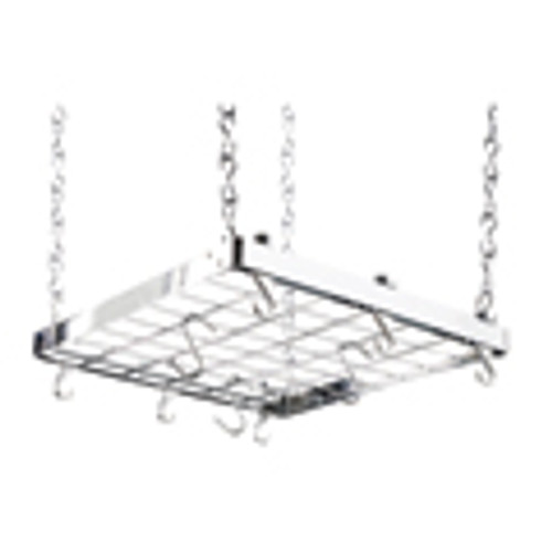 Chrome Square Ceiling Rack