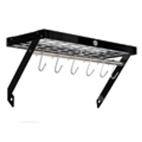 Black & Chrome Wall Rack