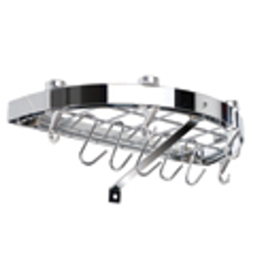 Chrome Half Round Wall Rack