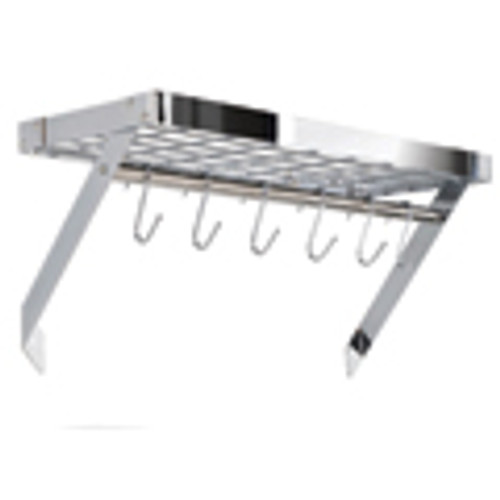 Chrome Rectangle Wall Rack