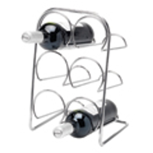 Pisa Wine Rack 6 Bottle - Chrome