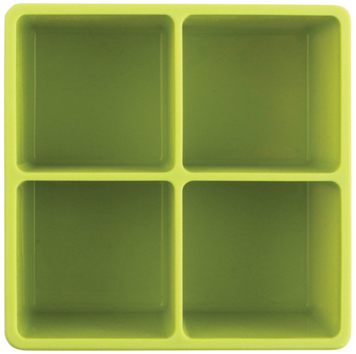 XL Cube Silicone Ice Tray Green 2pk