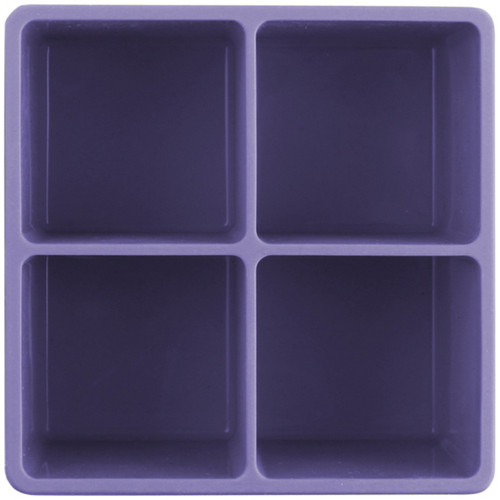 XL Cube Silicone Ice Tray Purple 2pk