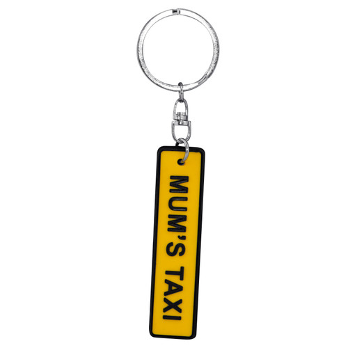 Keyring Licence Plate - Mum's Taxi