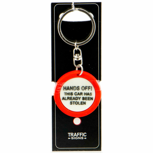 Keyring PVS Sign - Hands Off! This Car Has Already Been Stolen