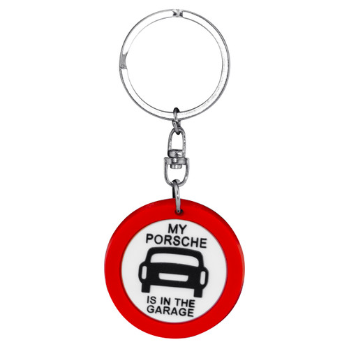 Keyring PVS Sign - My Porsche is in the Garage