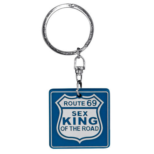 Keyring PVS Sign - Route 69 Sex King of the Road