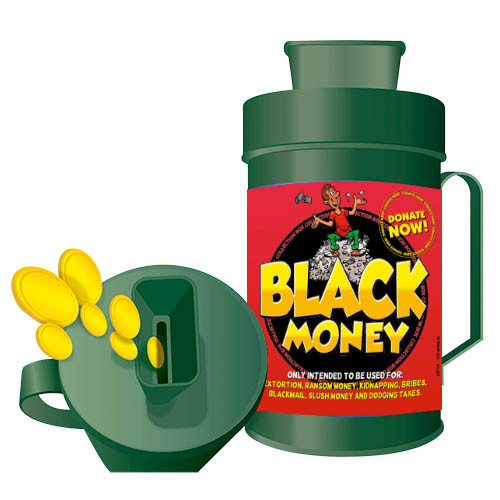 Collection Box - Black Money