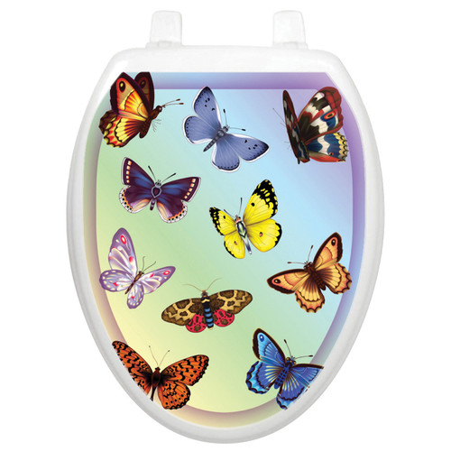 Toilet Tattoos Butterfly Dreams - Oval