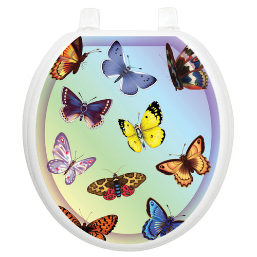 Toilet Tattoos Butterfly Dreams - Round