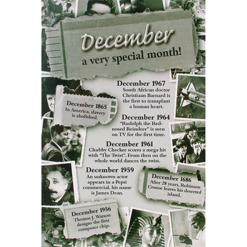 Chronicle Card - December Month